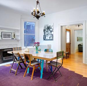 Eclectic dining featured on Houzz