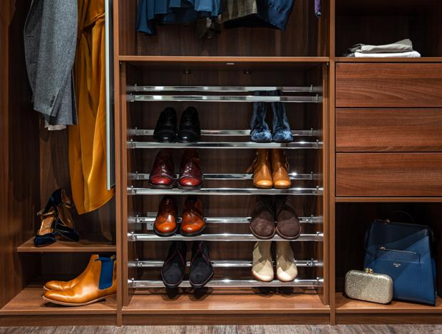 A built-in shoe rack from Sliderobes