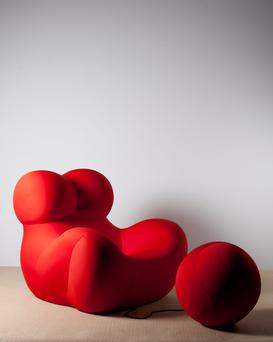 The voluptuous Donna chair symbolises the position of women in society