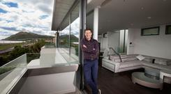 Dermot Bannon at the property his practice completed in Bray. Photo: Mark Condren
