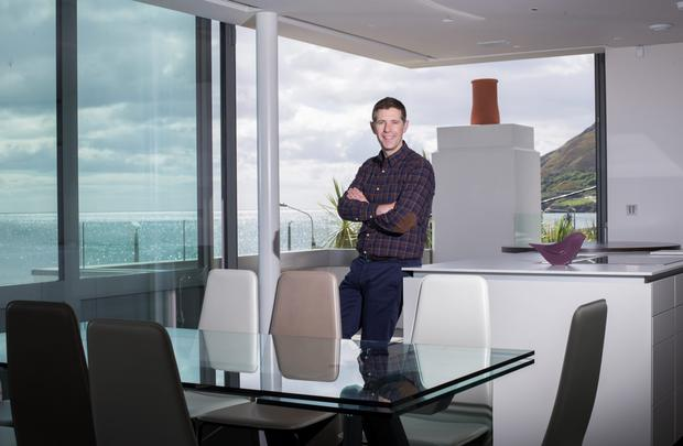 Grand designs: Dermot Bannon in a house recently extended and refurbished by his company. Photo: Mark Condren