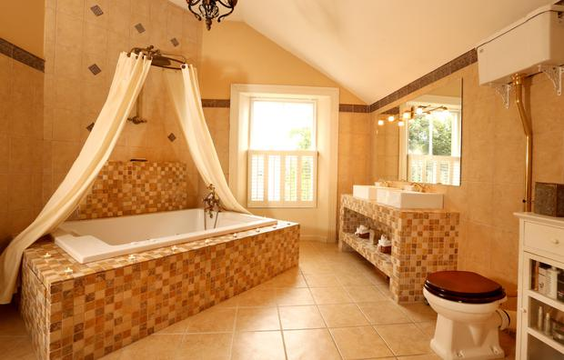The bathroom with 'monsoon' shower