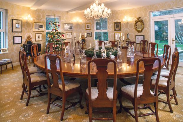 The dining room is Lisa's favourite part of the house, and where they will be enjoying Christmas dinner with 20 of their family members next weekend.