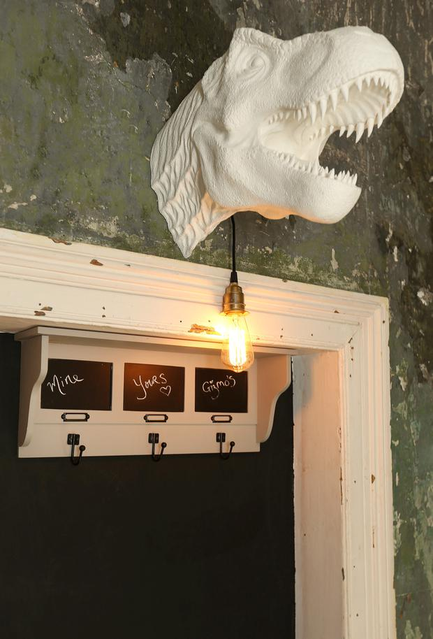 Siobhan Lam designed this T-Rex wall mount with her brother, Vincent.