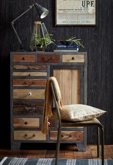 Urban cool in an instant? This multi-drawer chest made from reclaimed wood will do the trick; €1,159 from DFS