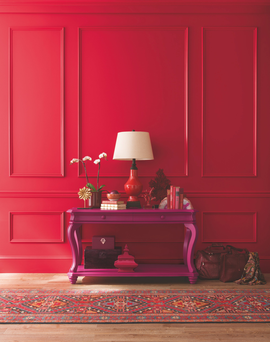 Fleetwood's new Pantone collection is a European exclusive. Available in their Prestige range in three finishes, this striking shade is called 'Bittersweet'. 5 litre can, €65.99; 2.5 litre can €38.99