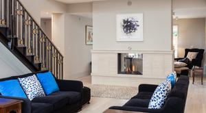 Gas-effect fireplaces can still be a focal point