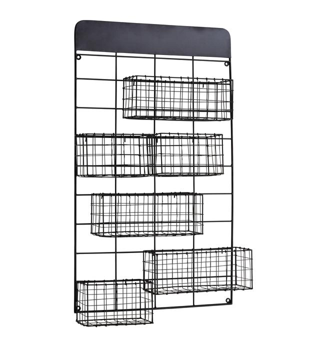 Black Wire Storage, €80.62. If space is tight, use the wall to keep quarters tidy; aprilandthebear.com