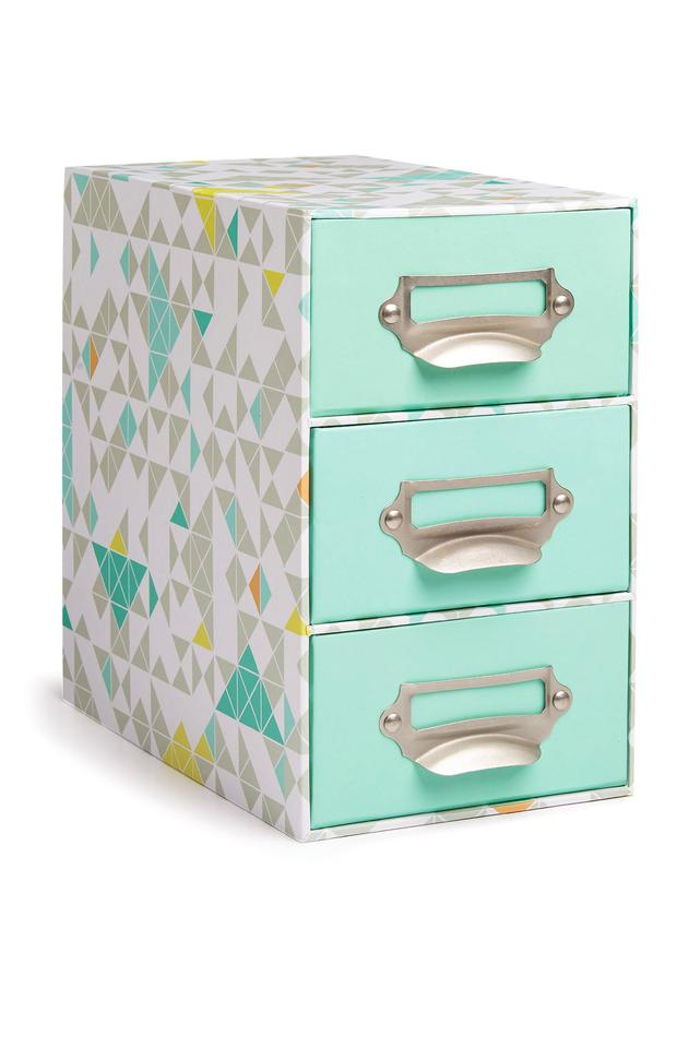 Three Drawer Storage, €8. Keep desks organised and clutter free with affordable storage; primark.ie