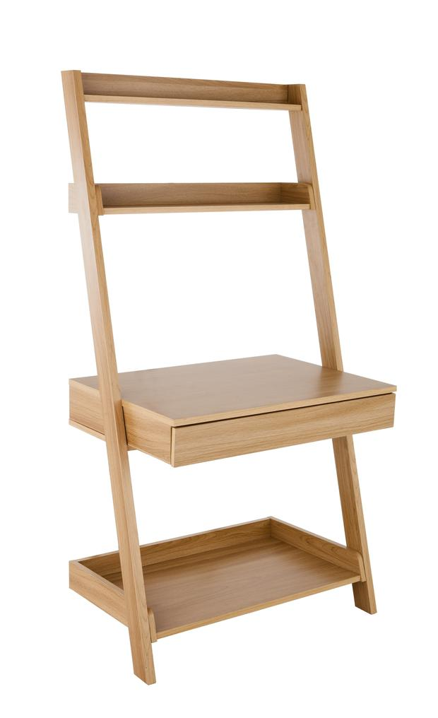 Metro Ladder Shelf with Desk, €115.70. A desk workstation with built-in shelving will keep your tabletop clutter free – particularly handy if the space is shared; littlewoodsireland.ie