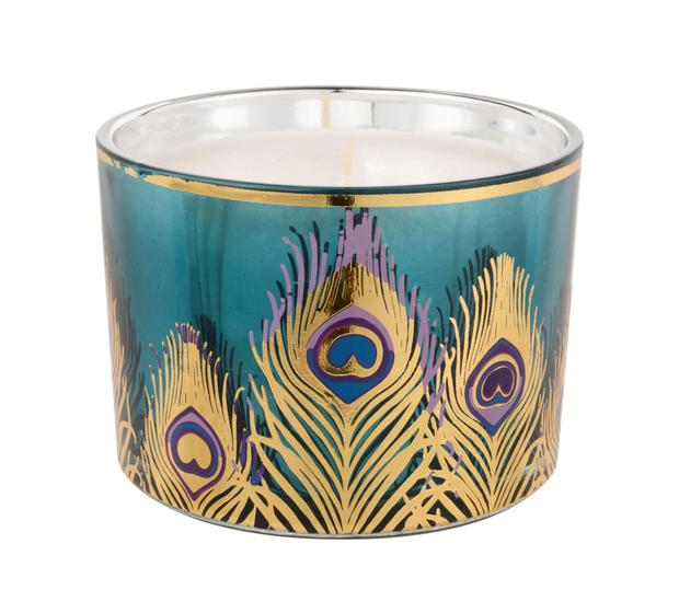 Peacock Candle, €14 You'll notice pattern trends crop up all the time — add them in small doses if you want to keep up-to-date; debenhams.ie