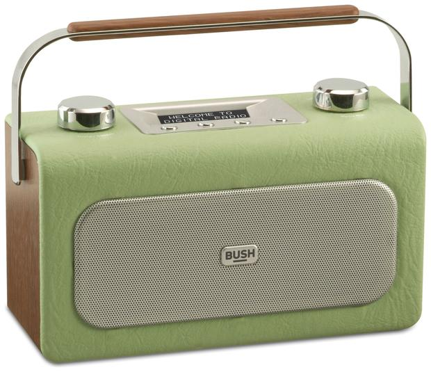 Bush classic leather radio, €36.99. Leather-finished electronics add a vintage feel and give you a nice break from shiny looking tech that may be two modern for the look you want; argos.ie