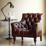 From the Treasury range, this accent chair from DFS is 100pc leather and creates a cosy reading nook. €1,598; dfs.ie