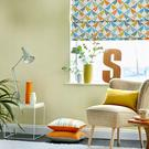 Look to blinds over curtains and furniture that's raised from the floor when designing a small space. The Noukku fabric range by Scion ensures the blinds are a fun feature and help to detract from the fact that space is limited; scion.co.uk