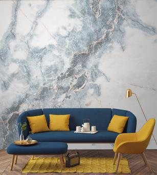 Marble is still a big hit but if a large slab is beyond your budget, Murals Wallpapers has a range of designs. From €31 per sqm; muralswallpapers.com