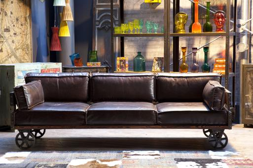 Railway sofa €4,379 from Woodesign.ie