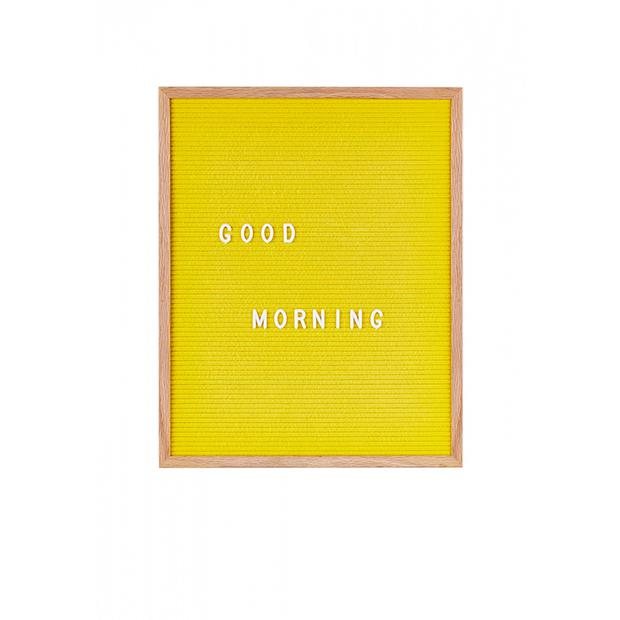 Large yellow felt letterboard, €45: Make the space your own with a witty quip or inspiring quote, designist.ie