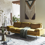 The relaxed finish of this ochre sofa sums up velvet's fresh new mood. From €1,680, lambdesign.ie