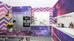 Kitchen with decal decoration from Pixers UK
