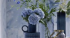 Flower jugs and vases, round mirror and plant holders, ceramics and furniture all Marks & Spencer