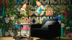 Tektura wallcoverings, Frida's garden room