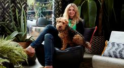Abigal Ahern with her dog