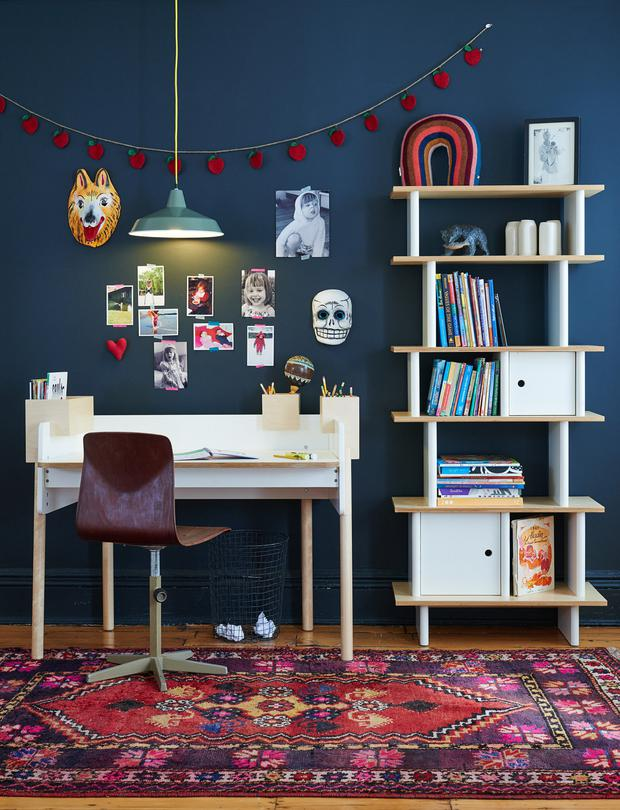 Oeuf bookcase in White and Birch from Cuckooland