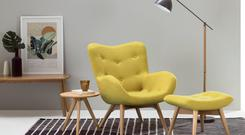 Doris Accent chair in yellow from Made