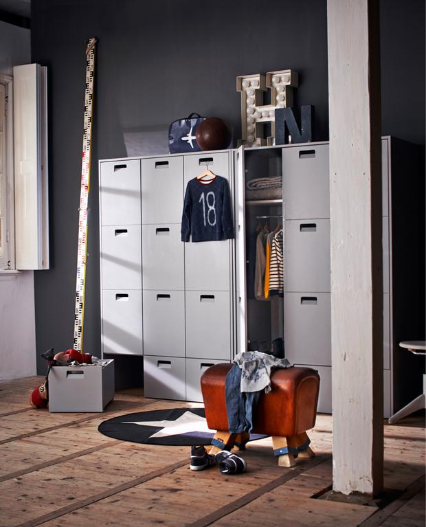 Kids Pine Locker Wardrobe from Cuckooland
