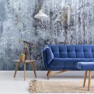 Concrete Blues wallpaper mural from Wallsauce.com