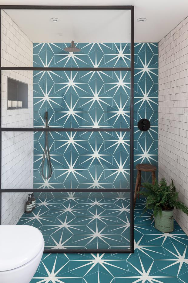 Peacock Lily Pad tiles from Tilestyle