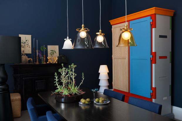 Accent cupboard and lighting by Moooi