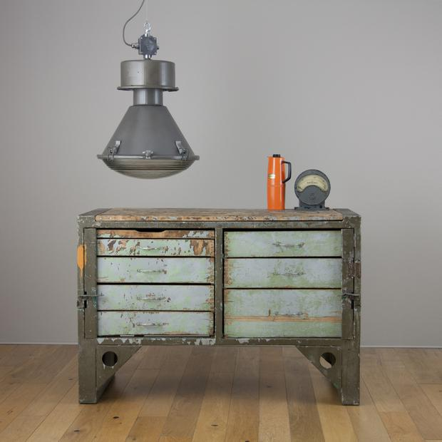 Salvaged industrial lighting from Skinflint