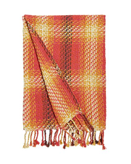 Woven check throw from Oxendales
