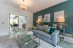 Boutique development: A living room at one of the Ard na Mara houses