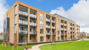 The three-bedroomed penthouse is located in the St Pancras development in Terenure