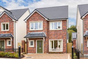 Stylish detached: Exterior of one of the 17 detached houses available at the Sallins development