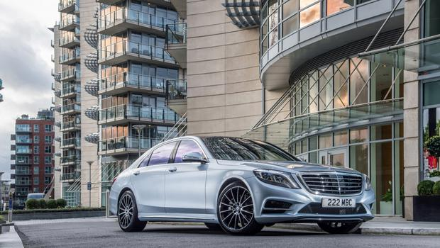 The Mercedes S500.