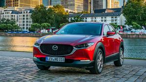 VERY CLASSY: Around the forests and hills surrounding Frankfurt, the CX- 30 behaved impeccably and has a premium feel and look