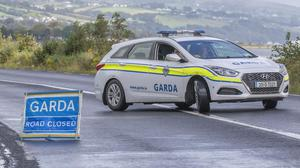 Gardaí at the scene of a road crash in Donegal. Picture by PA