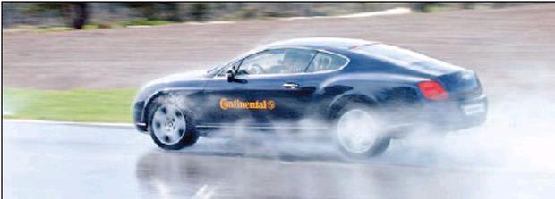 The Continental tyre came out tops in all the tests over five budget brands.