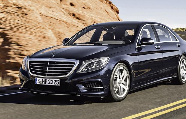 Just in, just driven: The new S-Class can drive itself at 60kmh, sniff out bumps in advance and waft your favourite scent in the cabin