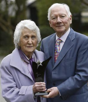 SUPREME AWARD: Gertie Shields with Gay Byrne