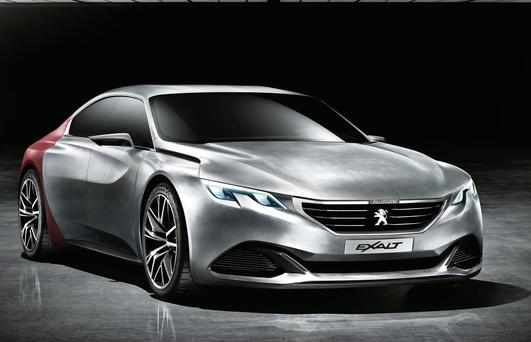 The concept Exalt which will be pushing Peugeot more upmarket.