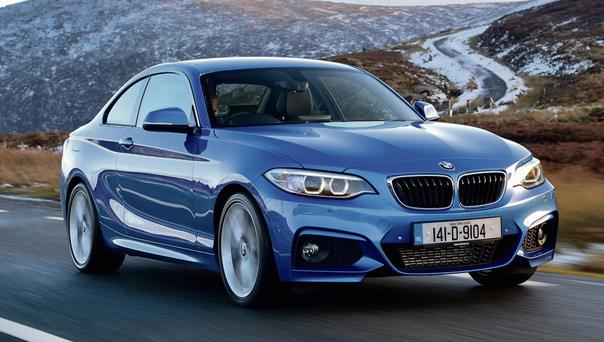 PRESENCE: The BMW 2-Series Coupe grabs the attention. Photo: Max Earey
