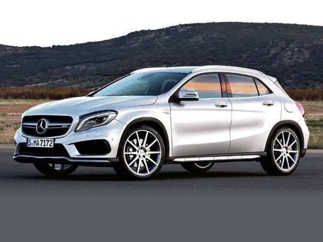 POOR OUTLOOK: The Mercedes-Benz GLA falls down on vision