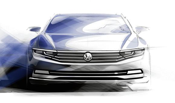 An artist's impression of the new VW Passat
