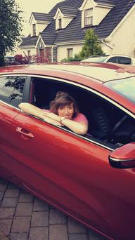 Emily Fuller with her new Kia