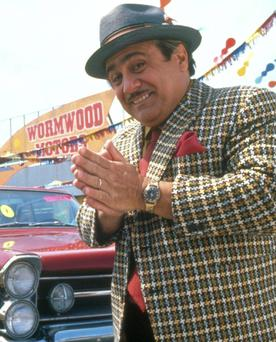 ALWAYS KICK THE TYRES: Danny DeVito as used car salesman Mr Wormwood in 'Matilda'