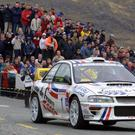 Andrew Nesbitt rallying in Kerry
